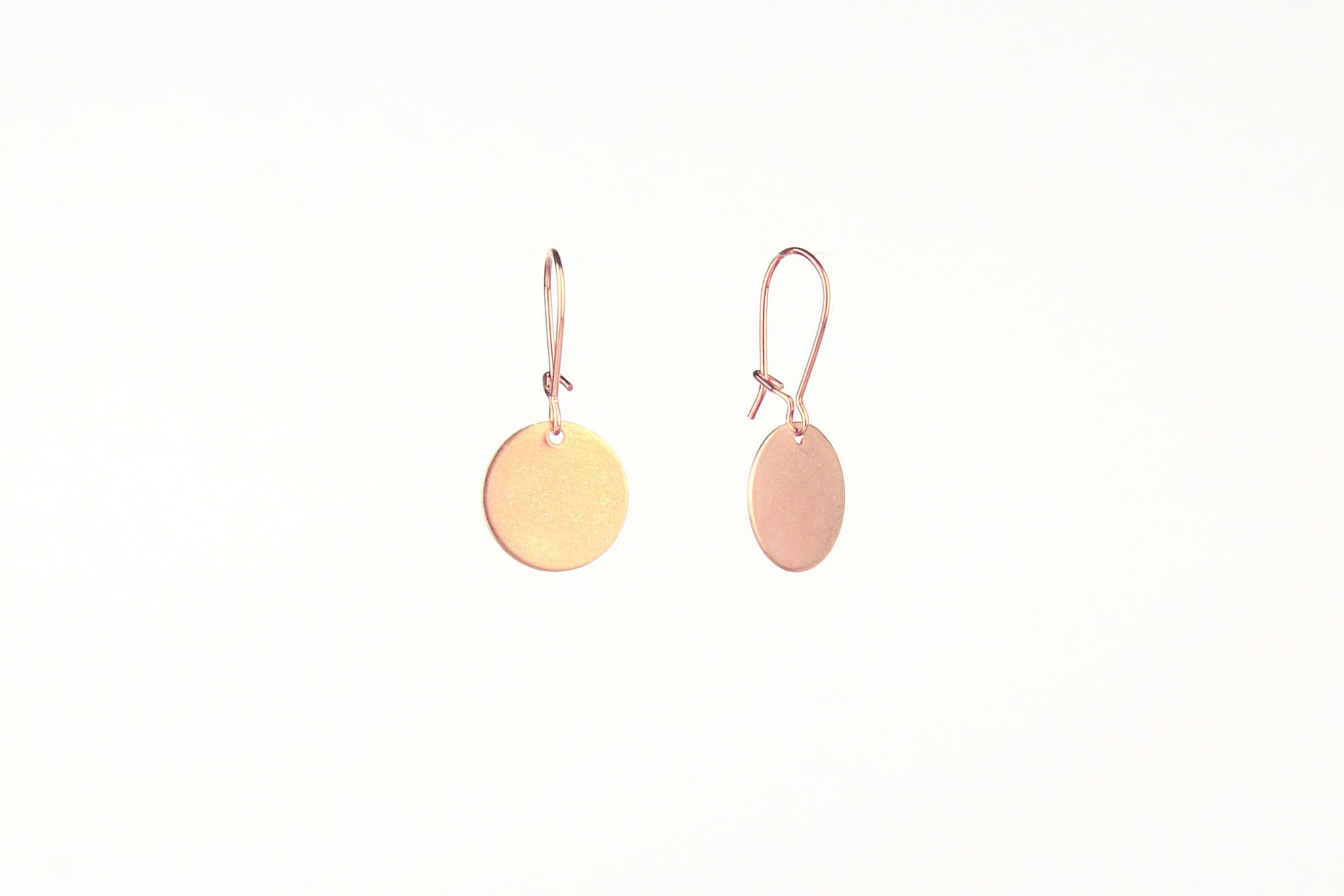 jewelberry ohrringe earrings medium disc rose gold plated sterling silver fine jewelry handmade with love fairtrade