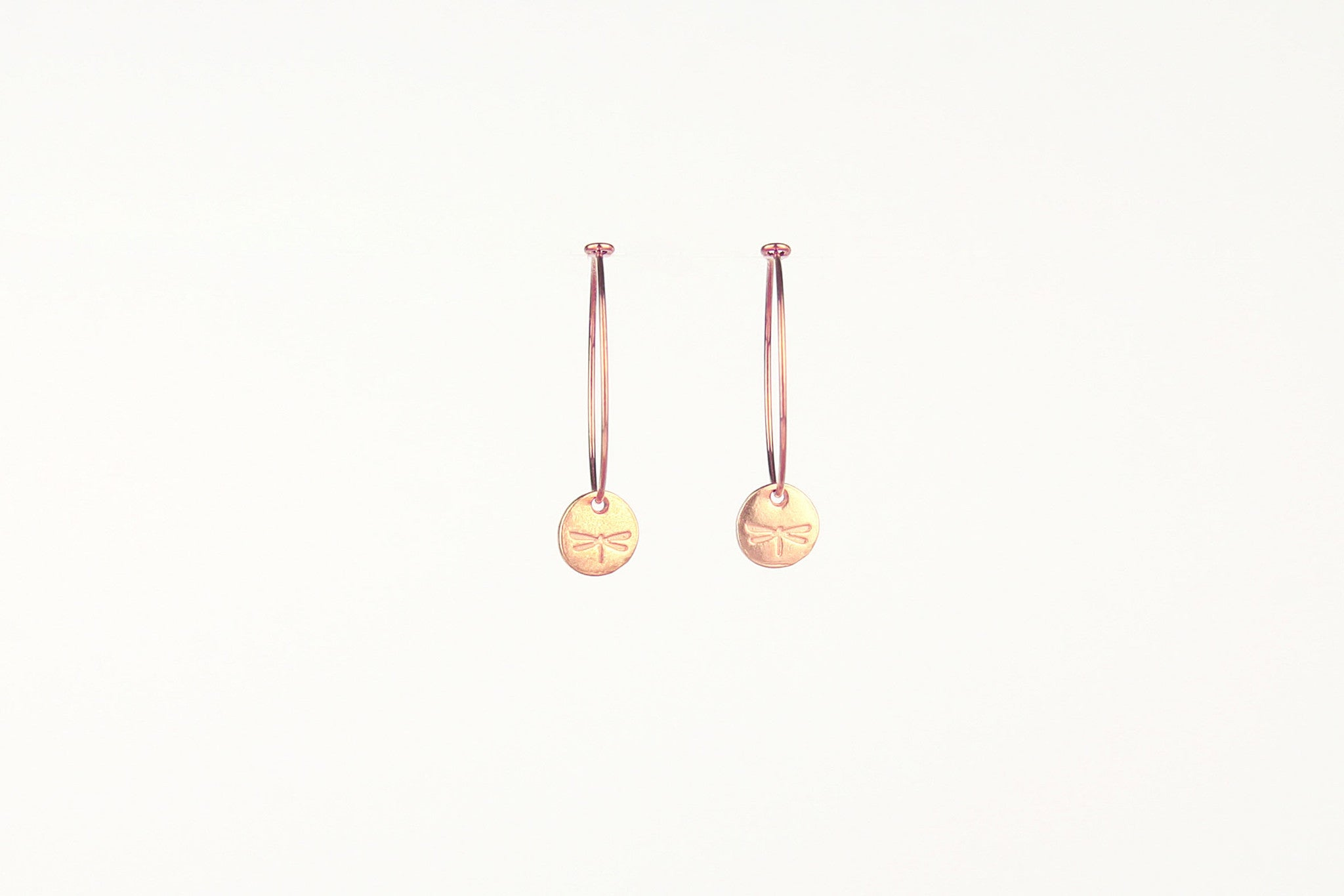 jewelberry ohrringe earrings dragonfly token hoops rose gold plated sterling silver fine jewelry handmade with love fairtrade