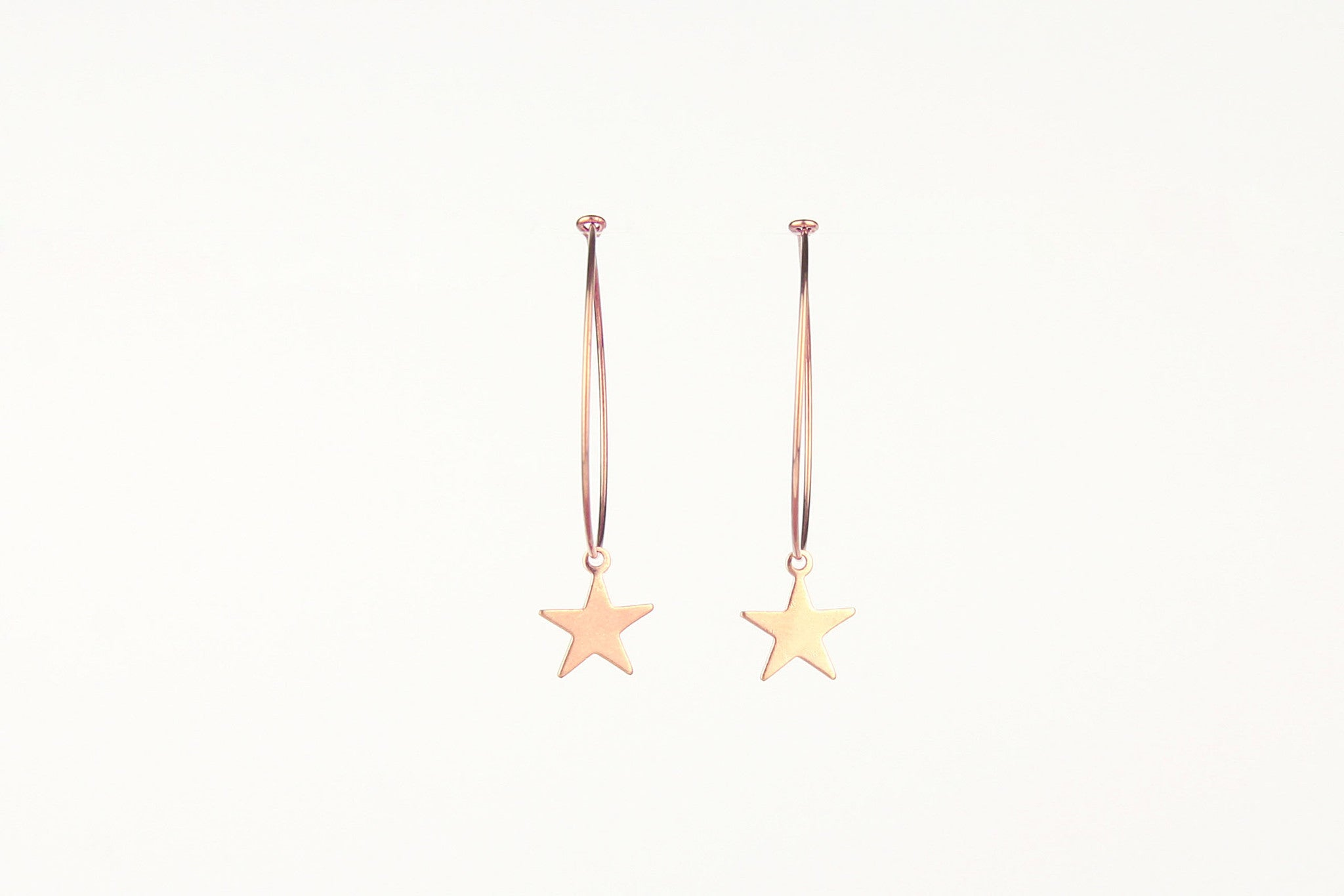 jewelberry ohrringe earrings plain star hoops rose gold plated sterling silver fine jewelry handmade with love fairtrade