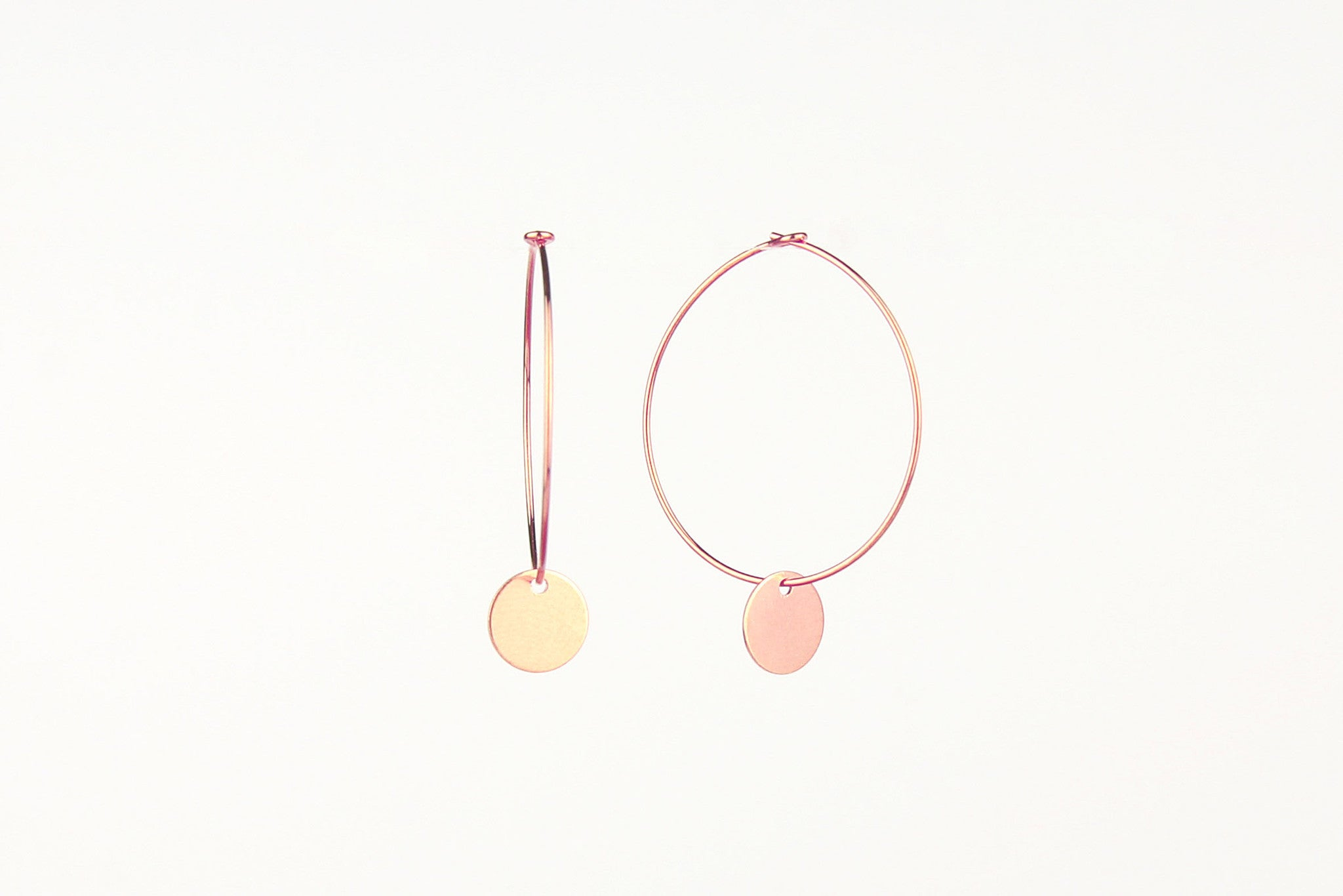 jewelberry ohrringe earrings small disc hoops rose gold plated sterling silver fine jewelry handmade with love fairtrade