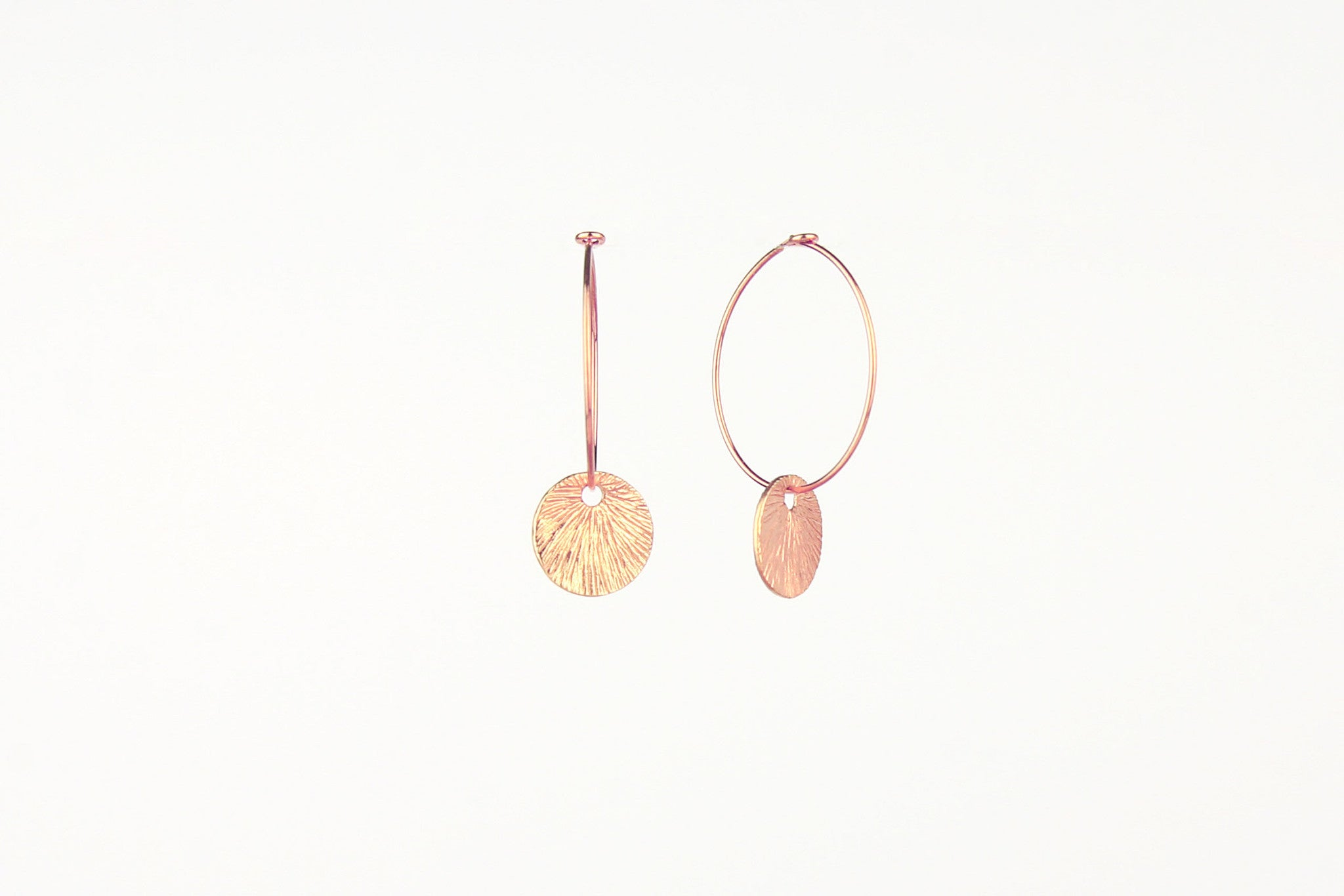 jewelberry ohrringe earrings small shell hoops rose gold plated sterling silver fine jewelry handmade with love fairtrade