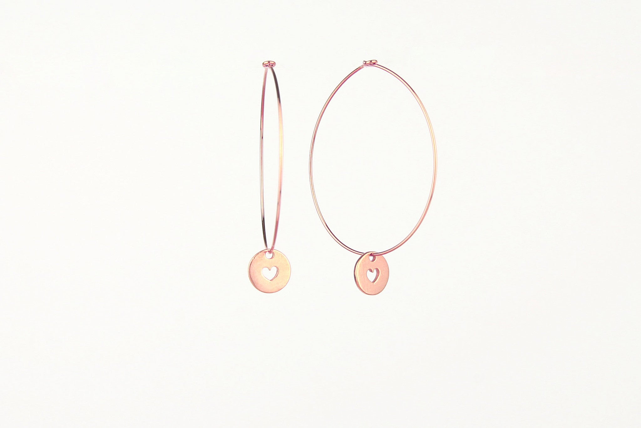 jewelberry ohrringe earrings love token hoops rose gold plated sterling silver fine jewelry handmade with love fairtrade
