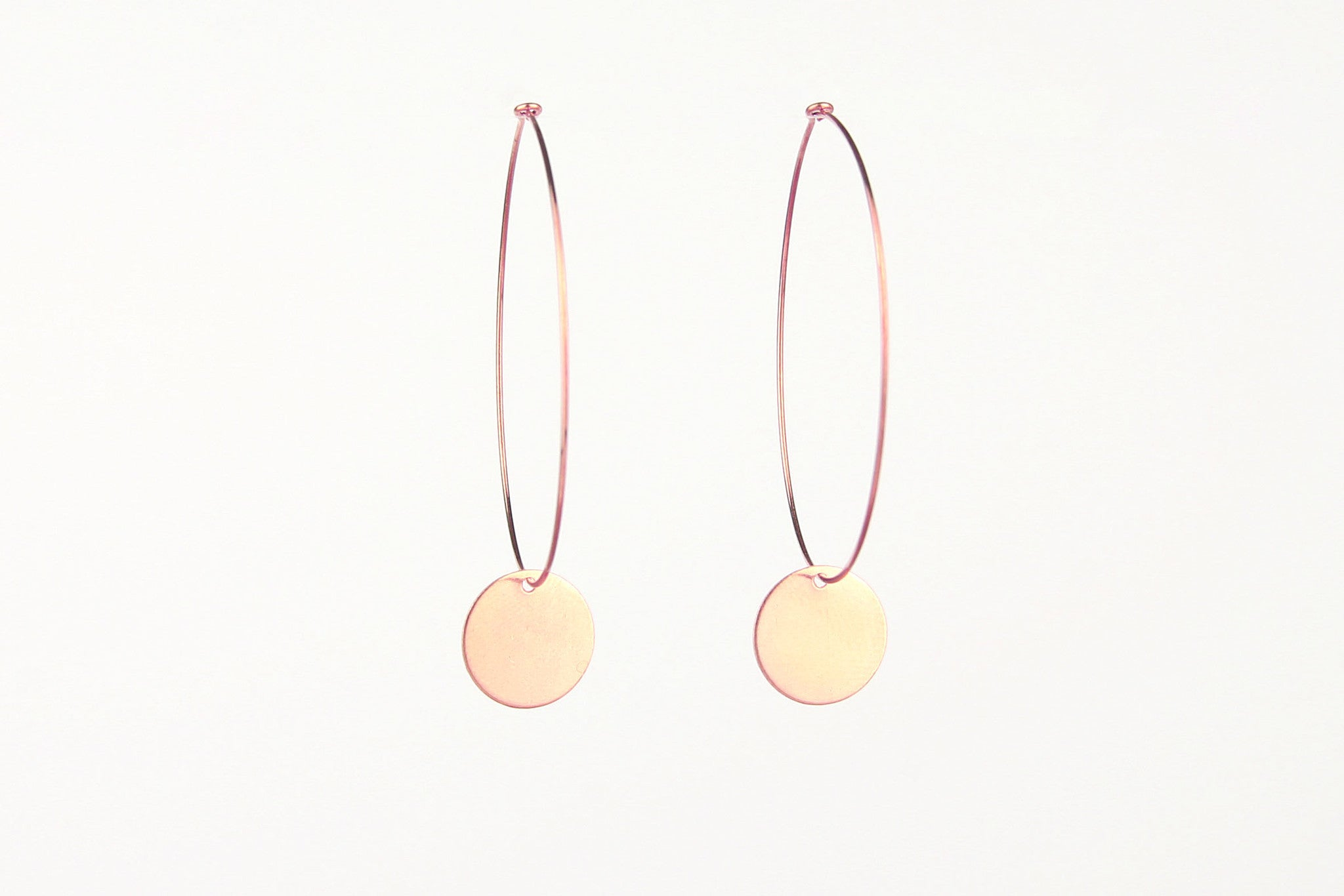 jewelberry ohrringe earrings medium disc hoops rose gold plated sterling silver fine jewelry handmade with love fairtrade
