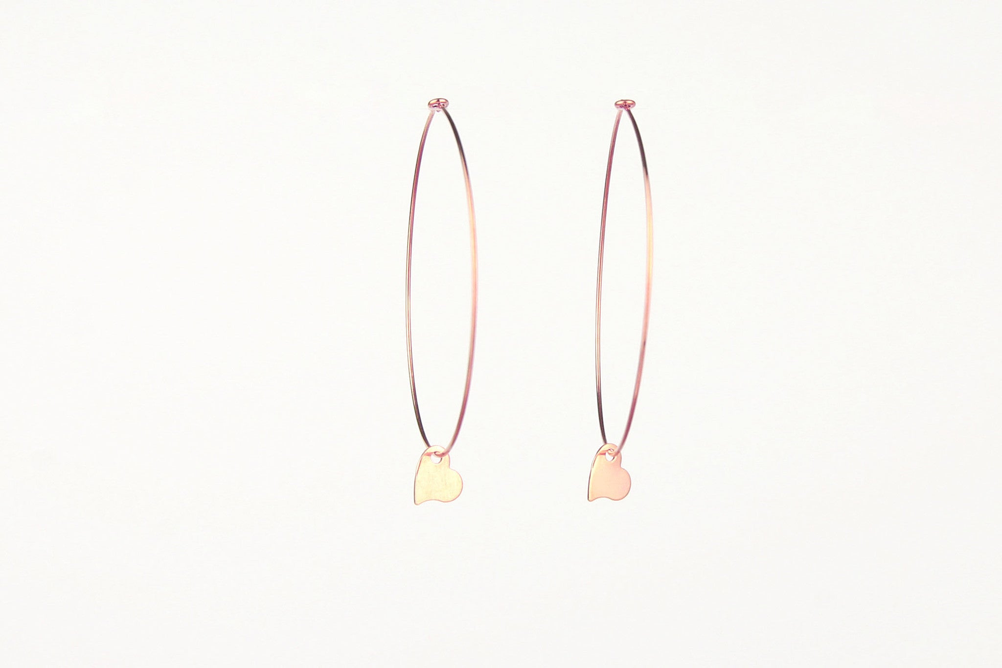 jewelberry ohrringe earrings my love hoops rose gold plated sterling silver fine jewelry handmade with love fairtrade