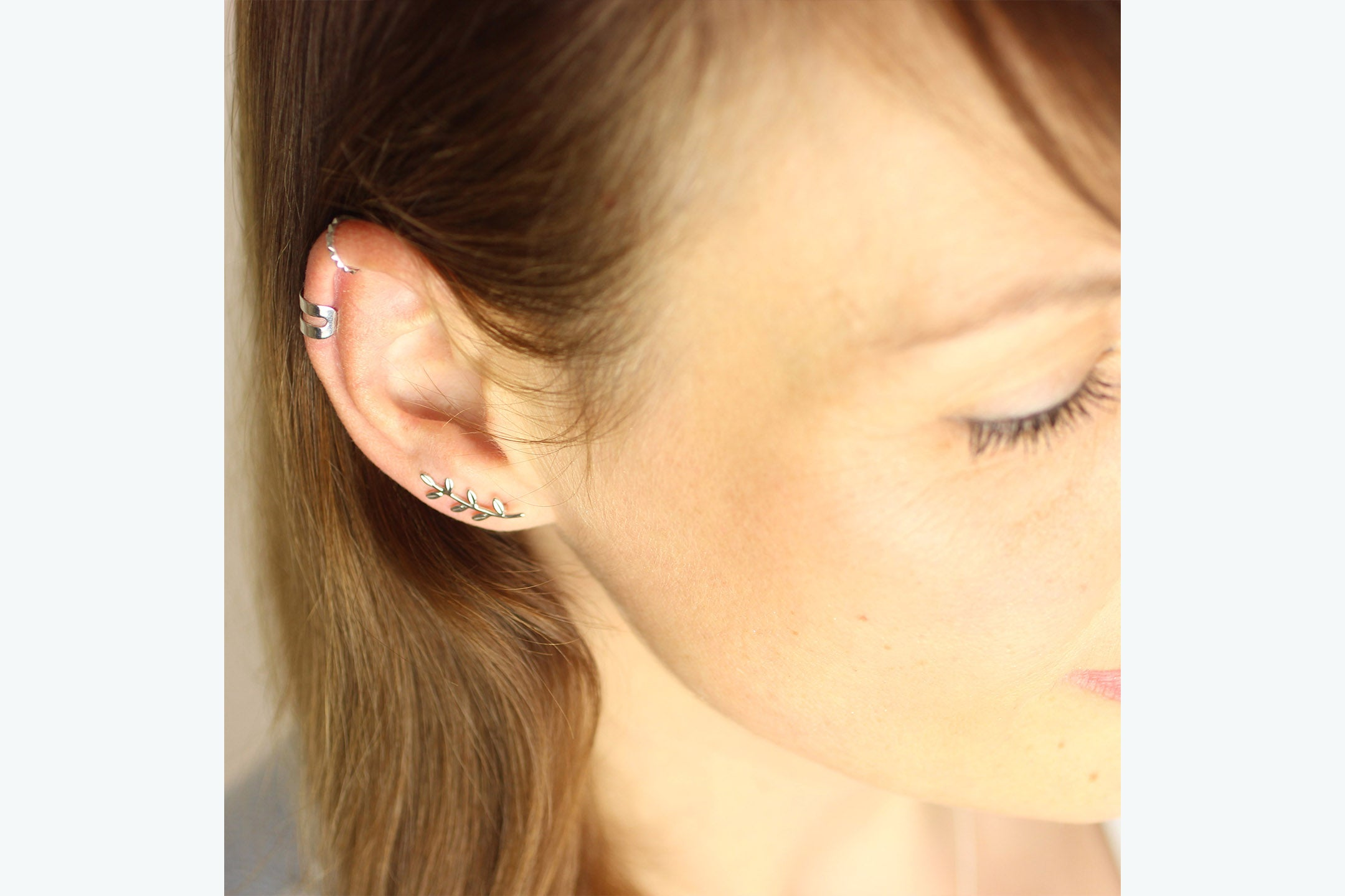 "Earcuff ""Two Lines"" silber"