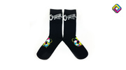 Panders Crew Sock - Black/Multicolor
