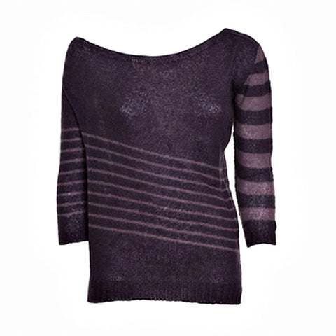 Blend Wool Shoulder-Baring Look Sweater