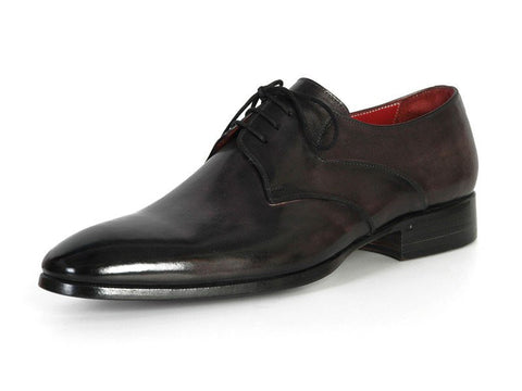 PAUL PARKMAN Men's Anthracite Black Derby Shoes - Fashion Res Publica  - 5