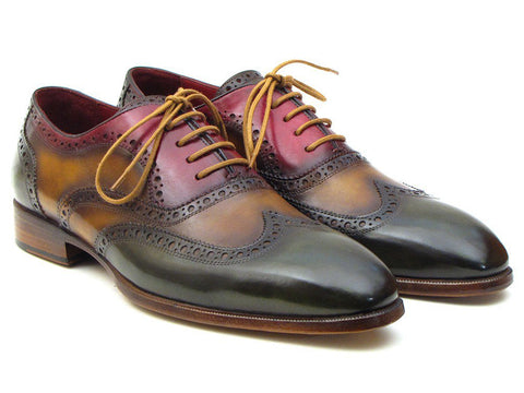 PAUL PARKMAN Men's Three Tone Wingtip Oxford Brogues - Fashion Res Publica  - 2