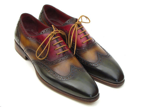 PAUL PARKMAN Men's Three Tone Wingtip Oxford Brogues - Fashion Res Publica  - 1