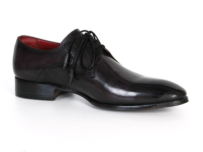 PAUL PARKMAN Men's Anthracite Black Derby Shoes - Fashion Res Publica  - 1
