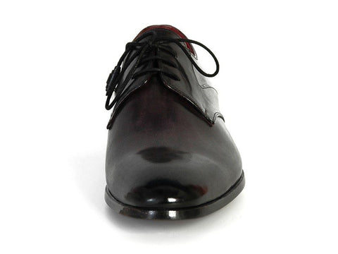 PAUL PARKMAN Men's Anthracite Black Derby Shoes - Fashion Res Publica  - 2