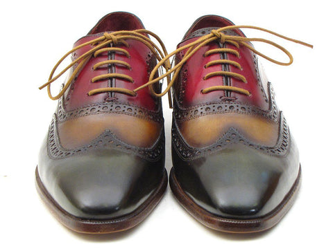 PAUL PARKMAN Men's Three Tone Wingtip Oxford Brogues - Fashion Res Publica  - 6