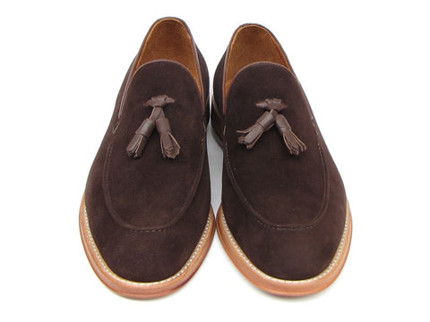 PAUL PARKMAN Men's Tassel Brown Suede Loafer - Fashion Res Publica  - 4
