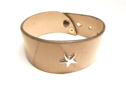 MINARDI Leather Bracelet Star - Fashion Res Publica  - 1