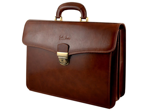 GIULIO BARCA Professional Leather Briefcase - Fashion Res Publica  - 1