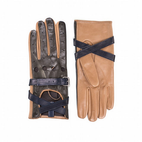TOMMY HILFIGER COLLECTION Leather Strap Gloves - Fashion Res Publica  - 1