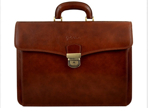 GIULIO BARCA Professional Leather Briefcase - Fashion Res Publica  - 2