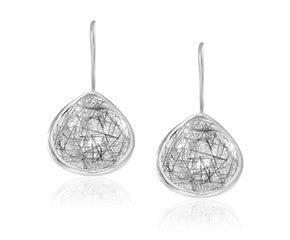 RICHARD CANNON JEWERY Teardrop Rutilated Quartz Earrings in Sterling Silver - Fashion Res Publica  - 1