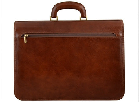 GIULIO BARCA Professional Leather Briefcase - Fashion Res Publica  - 3