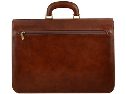 GIULIO BARCA Dakota Business Leather Brifcase - Fashion Res Publica  - 3