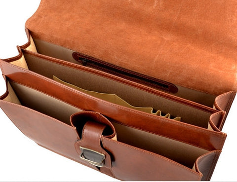 GIULIO BARCA Dakota Business Leather Brifcase - Fashion Res Publica  - 4
