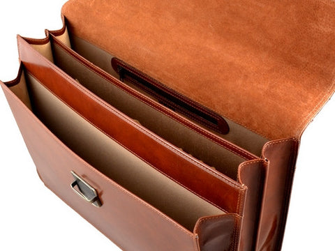 GIULIO BARCA Professional Leather Briefcase - Fashion Res Publica  - 4