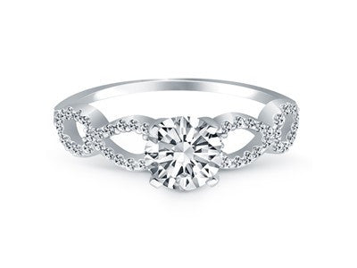 Double Infinity Diamond Engagement Ring in 14K White Gold - Fashion Res Publica  - 3