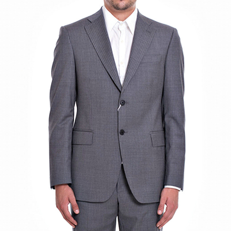 PIERRE BALMAIN Grey with stripes Wool Suit - Fashion Res Publica  - 1