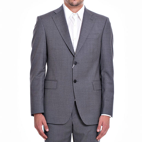 PIERRE BALMAIN Grey with stripes Wool Suit