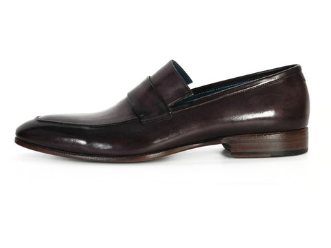 PAUL PARKMAN Men's Leather Loafer Black & Gray Hand-Painted - Fashion Res Publica  - 6