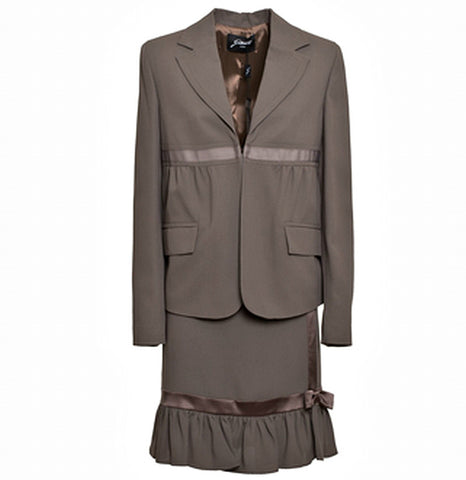 GATTINONI Mixed Fabric Skirt Suit - Fashion Res Publica  - 1