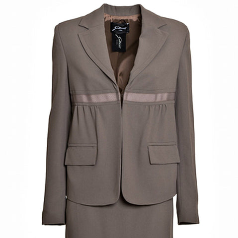 GATTINONI Mixed Fabric Straight Skirt Suit - Fashion Res Publica  - 2