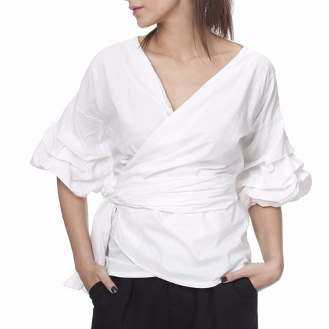 Tantra Vichy Cotton Wrap Blouse