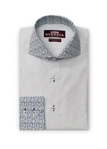 ETRUSCA Scapolo Cotton Polka Dot Printed Shirt - Fashion Res Publica  - 1