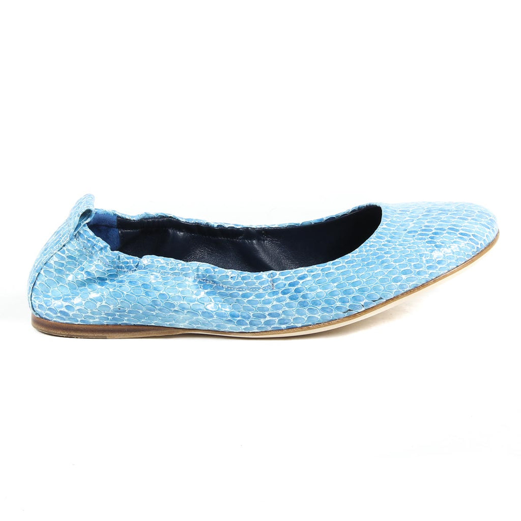Versace 19.69 Azzurro Leather Ballerina