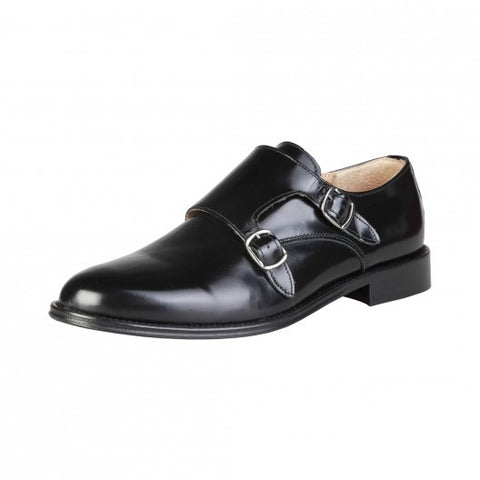 Pierre Cardin Men's Leather Monk Straps Shoes