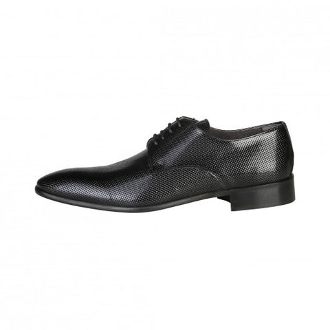 V 1969 Leather Textured Derbies Shoes