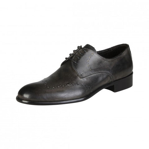 Made in Italia Elio Grey Leather Derbies