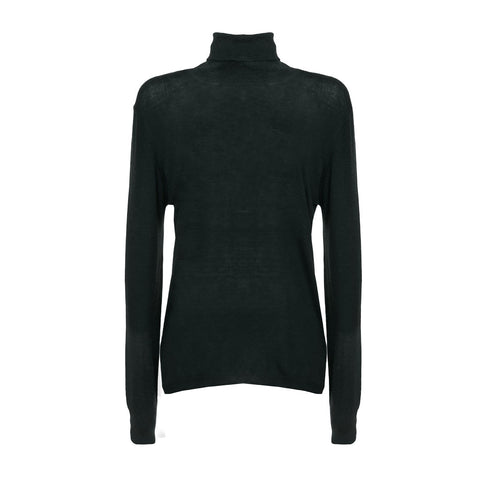 GATTINONI Dolcevita Black Cashmere-Blend Turtleneck Sweater