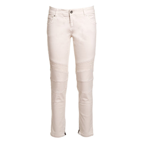 TWIN SET Women's Moto Jeans