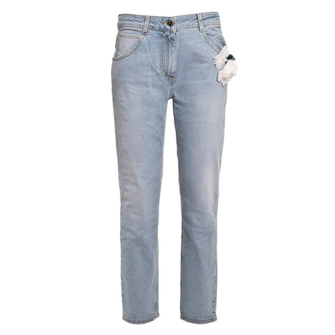 TWIN SET Women's Boyfriend Jeans