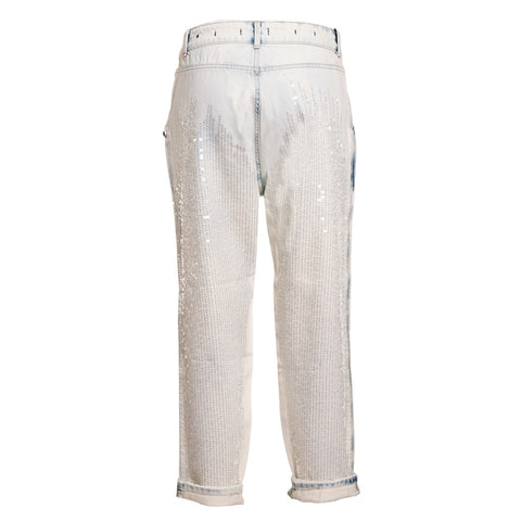 TWIN SET Women's Jeans with Sequins and Tears - Fashion Res Publica  - 3
