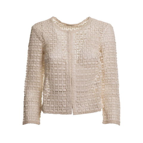 Ermanno by Ermanno Scervino Cotton Lace Cardigan