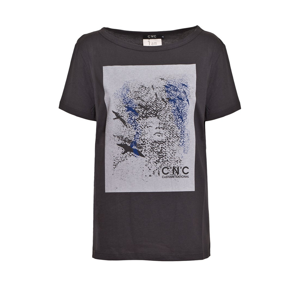 CoSTUME NATIONAL Printed Cotton T-Shirt - Fashion Res Publica  - 1