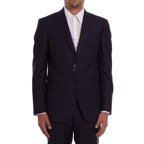 PIERRE BALMAIN Dark Blue Wool Suit