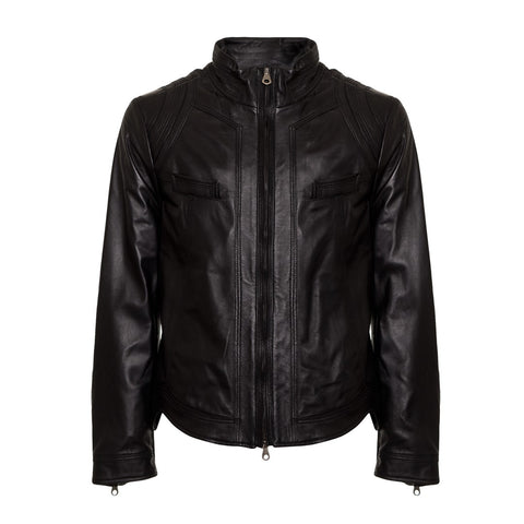 Ermanno by Ermanno Scervino Men's Waxed Leather Jacket