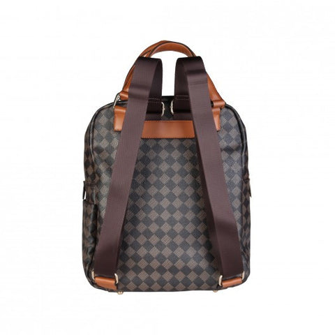 Versace 19.69 Canvas and Eco-leather Backpack