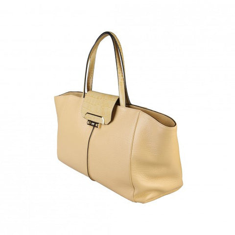 Cavalli Class Leather Shopping Bag