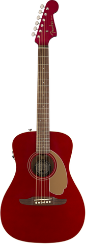 Fender Malibu Player Walnut Fingerboard Candy Apple Red